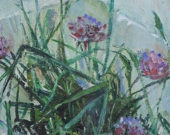 Oil Painting Still Life of Flowers in a Pot Ina Hooft (1894-1994)