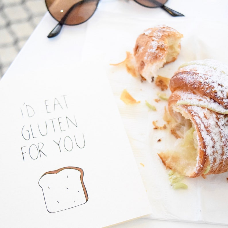 Gluten Free Organic Gift Funny Anniversary Card for ...