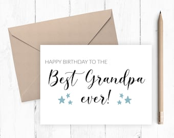 image relating to Grandpa Birthday Card Printable identified as Printable card for grandpa Etsy