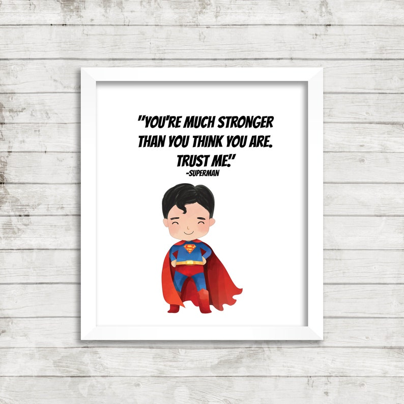 photograph relating to Printable Superman Pictures referred to as Adorable Superman Quotation, Superman printable, Superman playroom artwork, sport house artwork, 8x10, 11x14, 16x20 printable wall artwork