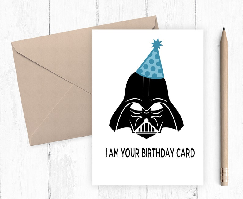 picture regarding Printable Star Wars Birthday Card identify Darth Vadar Birthday Card, Star Wars Birthday Card, Boys Birthday Card, Star Wars Printable, Humorous Birthday Card, Prompt Down load