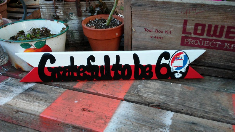 Grateful Dead Custom Birthday Sign Personalized Music Gift For Etsy