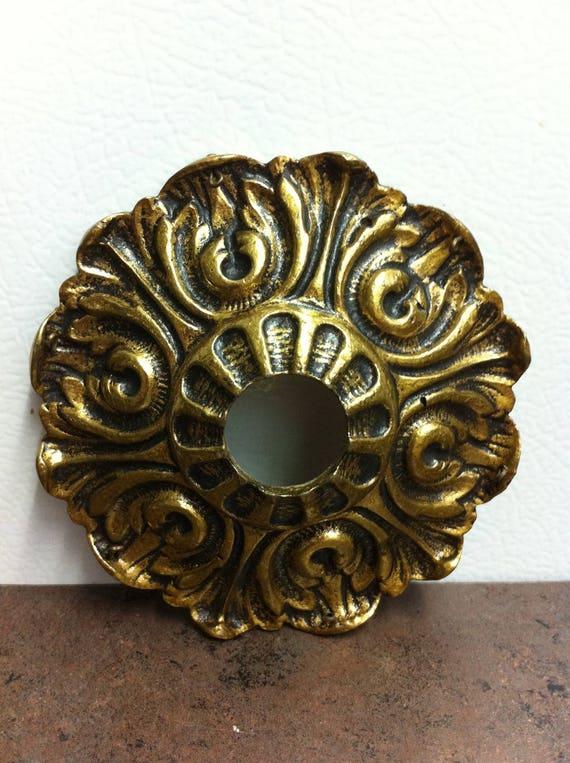 Etonnant Vintage Door Knob Plate Ornate Brass Door Rosette   Etsy