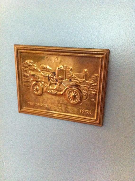 vintage messing auto plaque 1903 mercedes hergestellt in. Black Bedroom Furniture Sets. Home Design Ideas