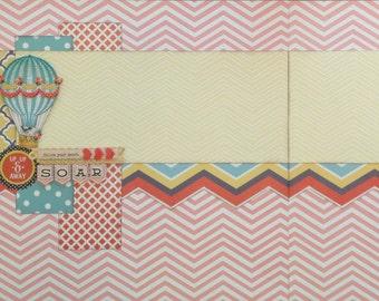 Soar Layout - Pre-cut 2-page 12x12 Scrapbook Layout DIY Kit