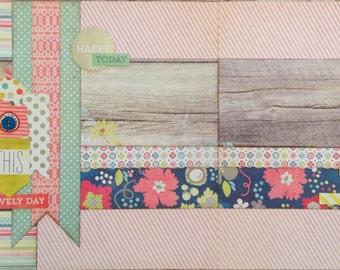 This Lovely Day - Pre-cut 2-Page 12x12 Scrapbook Layout DIY Kit