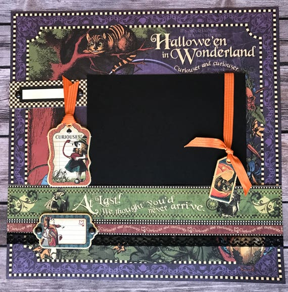 Graphic 45 Curiouser And Curiouser Halloween 12 X 12 Etsy