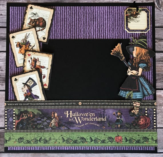 Graphic 45 Halloween In Wonderland With Alice 12x12 Etsy