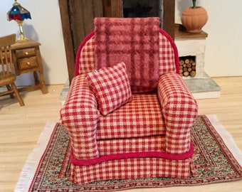 Country Chair for 1:12 Scale Dollhouse Custom Made for You.