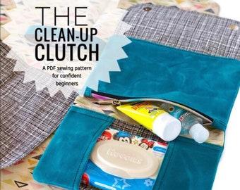 Cleanup clutch PDF sewing pattern, downloadable diaper clutch pattern, diy diaper holder, nappy bag