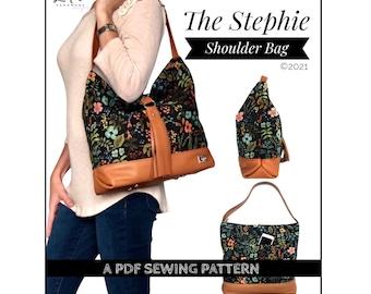 Stephie Shoulder Bag PDF sewing pattern, slouchy shoulder bag tutorial, hobo bag diy, lindshandmade designs, sewing pattern