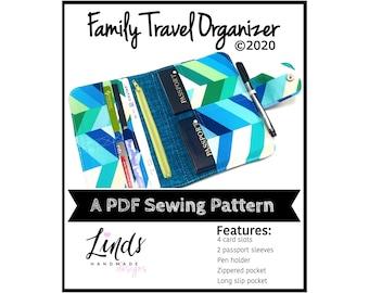 Family Travel Organizer PDF sewing pattern, DIY travel wallet, Linds Handmade Designs travel wallet