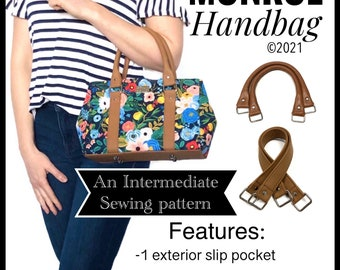 Monroe Handbag PDF sewing pattern, diy handbag, small purse tutorial, Lindshandmade patterns, PDF sewing pattern