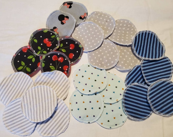 Reusable Makeup Removers, 5-20 Washable Cotton Facial Rounds, Random Prints/Patterns, Facial Cleansing Wipes, Cotton Balls