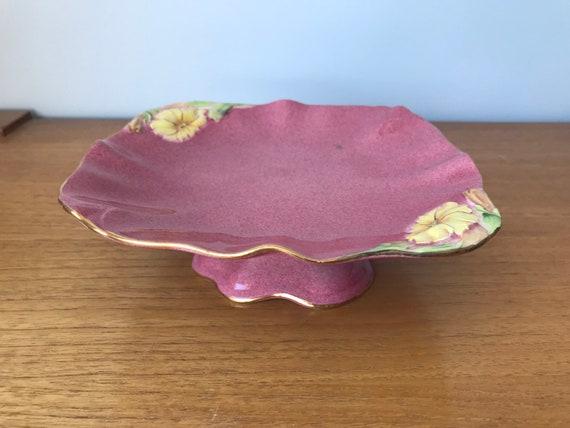 Vintage Royal Winton England Pink Petunia Serving Plate