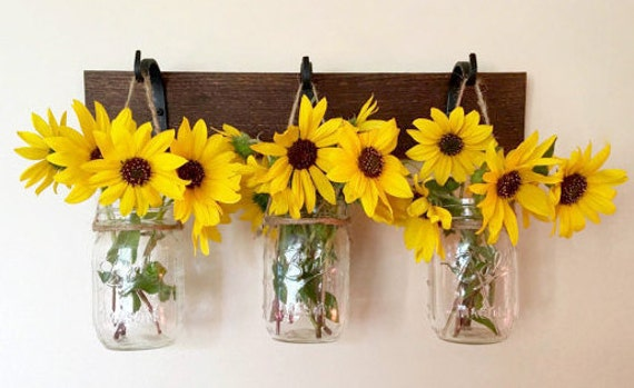 Mason Jar Wall Decor Mothers Day Gift Ideas Spring Decor Etsy