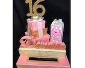 Shopping Theme Sweet 16 Quince Card Box! GORGEOUS!! Your choice of brand!