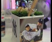 Sports Cube Centerpiece - Any Sport! Teams! Players! BaseBall / Hockey / Football / Jeter / Mitzvah / Birthday / Communion /