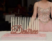 Sweet 16 Candelabra, Quinceanera & Mitzvah Candle Lighting Centerpiece
