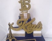 Paris Theme Sweet 16 Card Box! GORGEOUS!! Eiffel Tower and Box Stack!
