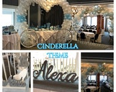Cinderella Inspired Sweet 16 Candelabra and Card Box Combo, Quinceanera & Mitzvah Candle Lighting