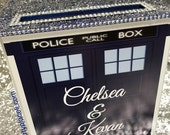 Tardis Doctor Who Large Card Box or Centerpiece Glitter and Bling for Sweet 16 / Wedding /  Mitzvah