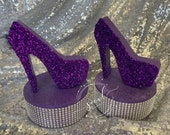 Glittered Stiletto Heel Mini  Centerpiece for Sweet 16, Candy Buffet, Birthday & Quince