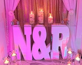 Large Freestanding Foam Initial Letters or monogram perfect for wedding, photo prop, vip table, candy table
