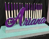 Under the Sea Sweet 16 Candelabra, Quinceanera & Mitzvah Candle Lighting Centerpiece - Medium Two-Tier Size