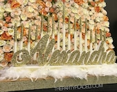 Sweet 16 Candelabra, Quinceanera & Mitzvah Candle Lighting Centerpiece with feathers- Large Size with Tiered candle effect