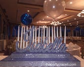 Sweet 16 Candelabra, Quinceanera & Mitzvah Candle Lighting Centerpiece - Medium Two-Tier Size