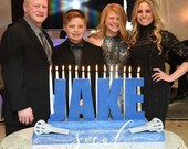 Bar Mitzvah with logos or custom sport pieces Candle Lighting Centerpiece - Two-Tier Size  lacross baseball hockey