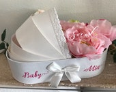 Baby carriage / bassinet centerpiece or card box