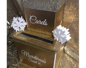 WInter Wonderland Two-Tier Custom Card Box with snow flakes// Gorgeous with bling // Sweet 16 // Quince // Wedding  // Mitzvah