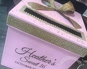 Rhinestone Card Box with large bow Sweet 16 / Wedding / Quince / Mitzvah