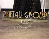 Art deco, great gatsby Custom Name logo Centerpiece for corporate party  holiday party