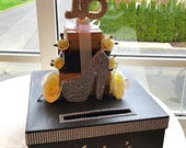 Sweet 16 15 Quince Card Box! GORGEOUS!! Rhinestones, Roses, Heel and Gift Box Stack!