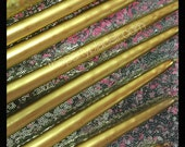 Metallic Silver or Metallic Gold  Taper Candles for Candle Lighting Ceremony  // Sweet 16 // Quince