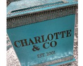 Large Card Box & CO Turquoise Glitter and Bling for Sweet 16 / Wedding /  Mitzvah / Quince
