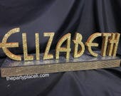Art deco, great gatsby Custom Script Name Centerpiece for Sweet 16, Candy Buffet, Shower & Mitzvah