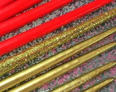 Taper Candles for Candle Lighting Ceremony QTY-17 Silver,  Gold // Sweet 16 // Quince