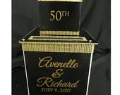 Two-Tier Custom Card Box // Gorgeous with bling // Sweet 16 // Quince // Wedding // Anniverary // Mitzvah