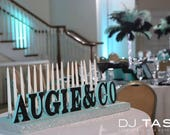 Sweet 16 Candelabra, Quinceanera, Mitzvah Candle Lighting Centerpiece & Co Tiffany Blue