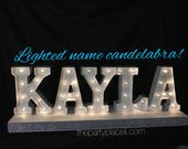 Lighted Marquee Candelabr...