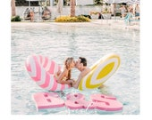 Wedding Pool Party Float Decoration Floating Prop Giant Numbers or Letters for Wedding, Birthday, Graduation. Custom float