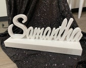 Sale & Free Shipping Unfinished Custom Script Name Centerpiece for Sweet 16 candelabra, Candy Buffet, baby Shower, quince or Mitzvah DIY
