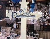 Communion Christening Cross Large Centerpiece or Prop for Candy Buffet, entrance, Gift table