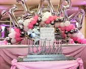 USA Made! Under the sea Candle Lighting Centerpiece Sweet 16 Candelabra, Quinceanera - Bat Mitzvah Medium Two-Tier Size