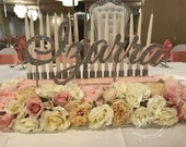 ROSES! Sweet 16 Candelabra, Quinceanera & Mitzvah Candle Lighting Centerpiece - Medium Size with flowers! Floral!