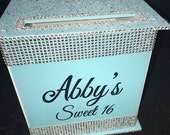 Large Card Box Glitter and Bling for Sweet 16 / Wedding /  Mitzvah / Quince